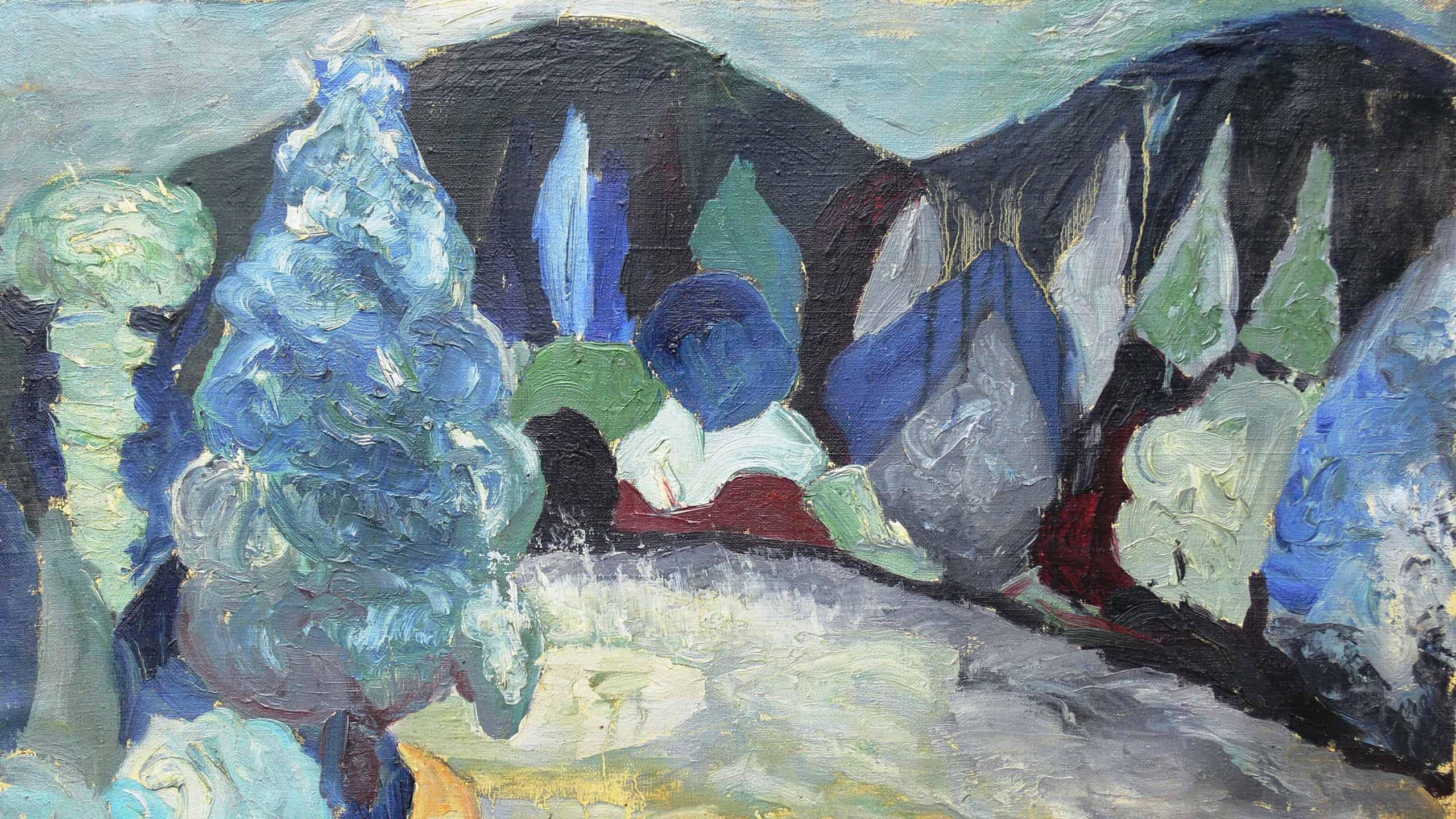Pejzaż (fragment); zdjęcie z archiwum Skarbnicy Sztuki, kadrował: Paweł Wroński