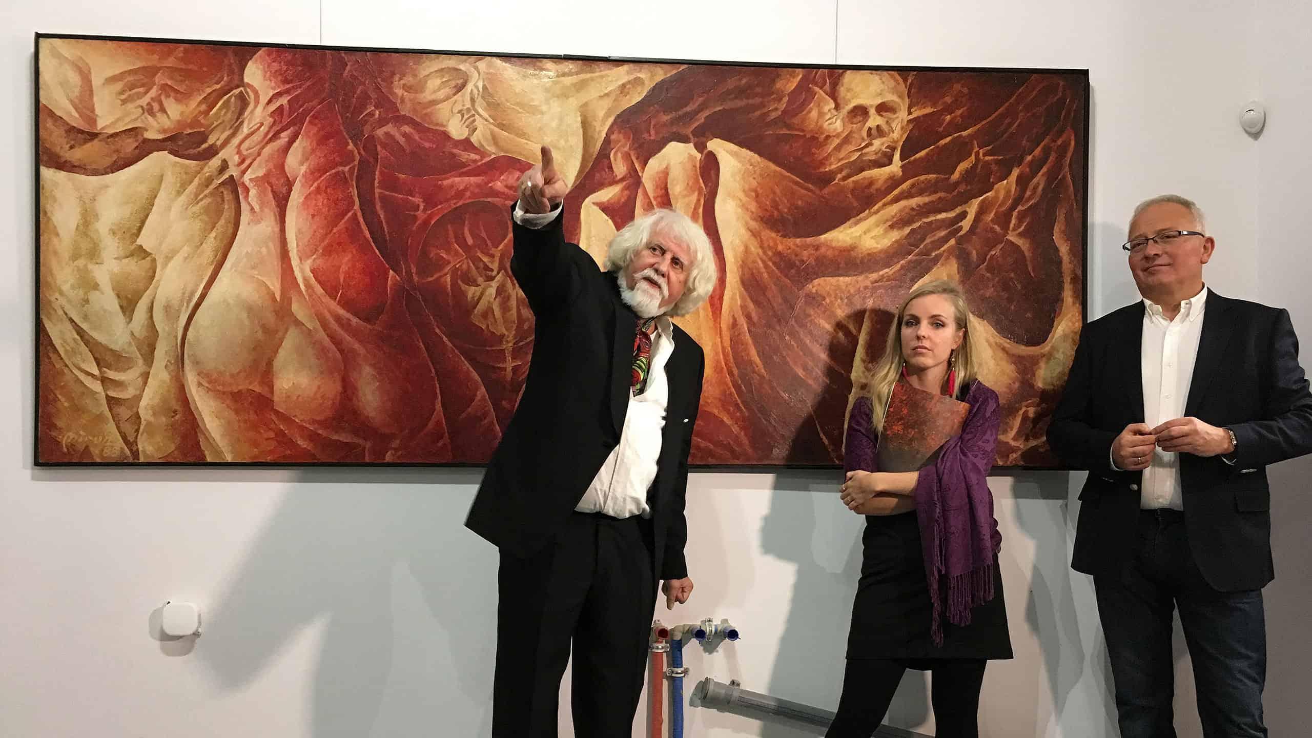 Otwarcie wystawy malarstwa Mirona w Galerii Skarbnicy Sztuki, fot. Paweł Wroński